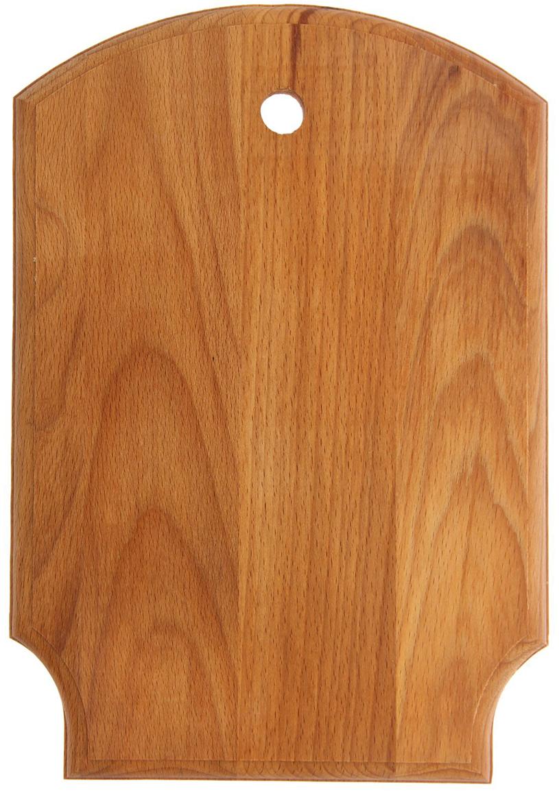Доска разделочная Щит, цвет: коричневый, 35 х 24,5 х 1,8 см1801076Посуда из бука пользуется популярностью уже многие столетия. Доска для нарезки выполнена в традиционном стиле и придётся по вкусу ценителю классического дизайна.Достоинства:безопасный материал;специальное отверстие для удобного хранения;благодаря масляной пропитке изделие отличается долговечностью;вы сможете задействовать обе стороны предмета.После каждой мойки рекомендуется насухо вытирать поверхность доски.