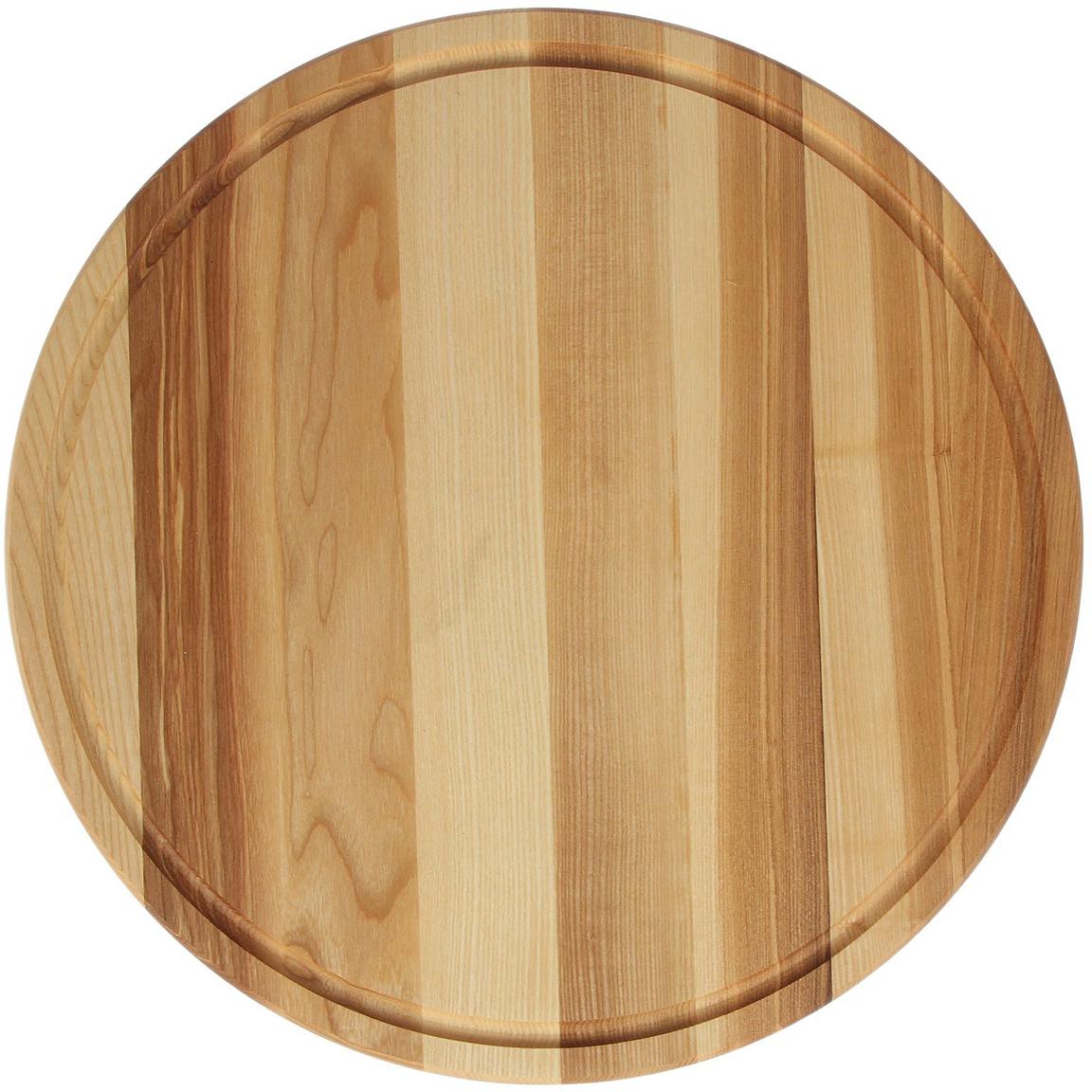 Доска разделочная Доброе дерево Для пиццы, цвет: бежевый, 45 х 45 х 2 см1893049Такую разделочную доску можно использовать и в качестве подноса. Подав пиццу таким образом, вы удивите своих гостей.Изделие выполнено из древесины твёрдых пород, которые менее чувствительны к влаге. Этот материал имеет больший срок службы. Также такая древесина приспособлена для ежедневной нарезки твёрдых продуктов.Уход за деревянной разделочной доскойОбработайте перед первым применением. Используйте пищевое минеральное или льняное масло. Протрите им доску и дайте впитаться в древесину. Уберите излишки масла сухой тканью. Повторяйте процедуру каждые 2?3 месяца, так вы предотвратите появление пятен, плесени и запахов еды. Для сохранения гладкости протирайте изделие наждачной бумагой. Используйте несколько разделочных досок для разного вида пищи. Это препятствует распространению бактерий сырых продуктов. Тщательно мойте и дезинфицируйте разделочную доску мылом и горячей водой после каждого использования. После этого высушите. Чтобы избавиться от запаха чеснока или лука, смажьте доску солью с лимоном. Через пару минут протрите поверхность и промойте её. Храните доску в сухом месте в вертикальном положении и вдали от посторонних запахов. Соблюдайте рекомендации, и разделочная доска прослужит вам долгие годы!