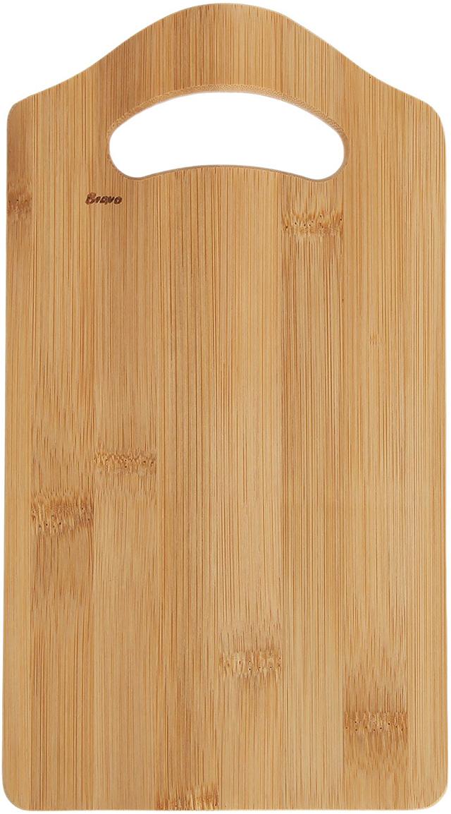 Доска разделочная Bravo Бамбук, цвет: бежевый, 28 х 15 х 1 см