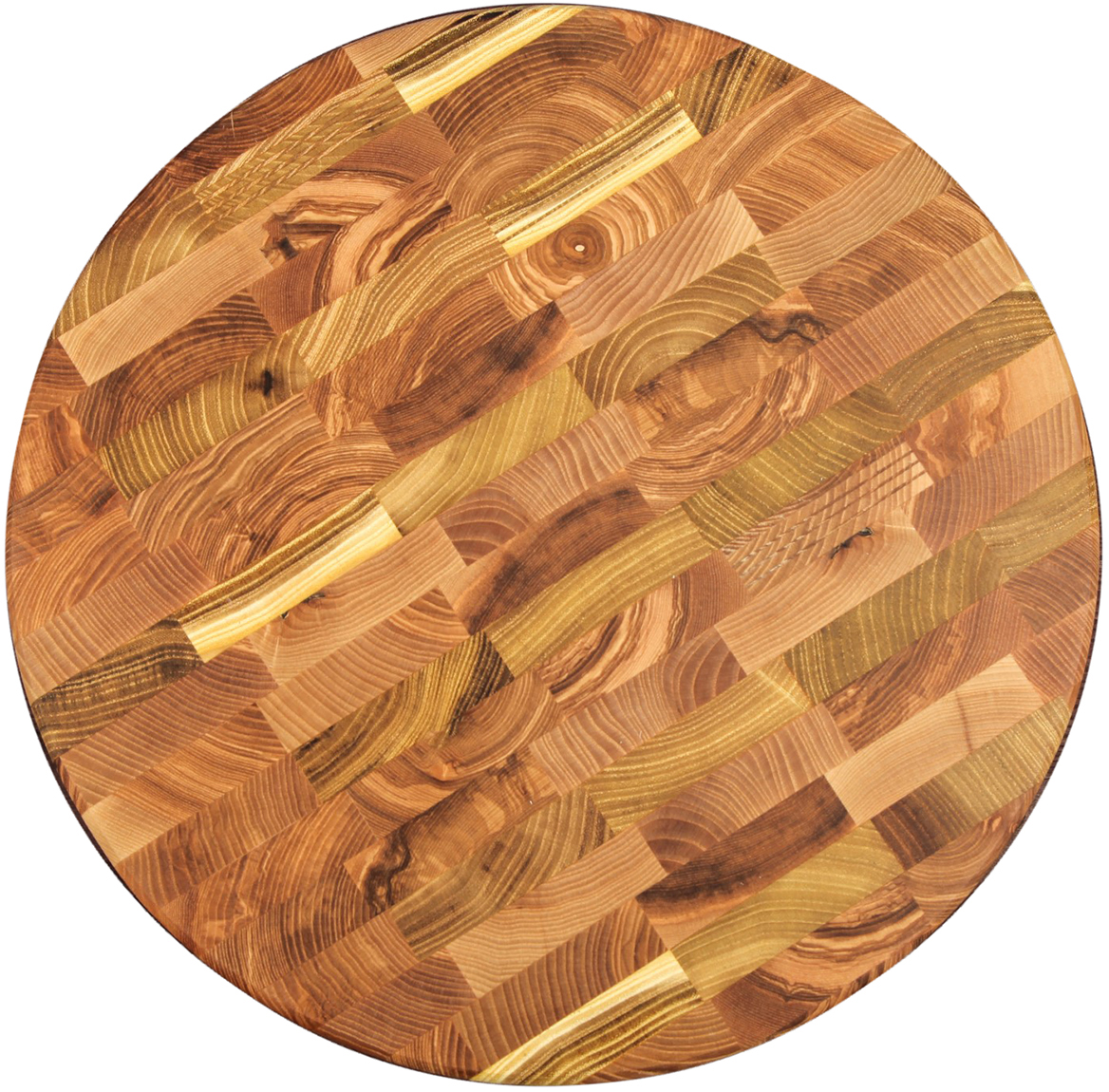 Доска разделочная Доброе дерево, торцевая, цвет: коричневый, 35 х 35 х 3,5 см