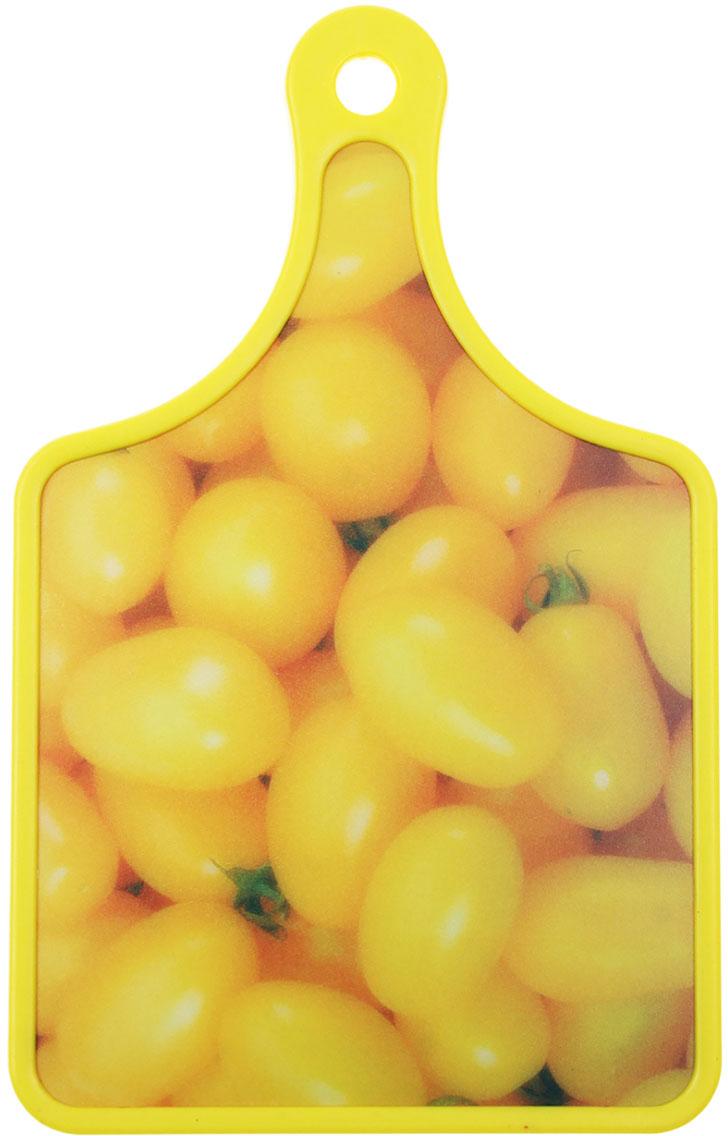 Доска разделочная Доляна Желтые помидоры, цвет: желтый, 0 х 19 х 30 см589950От качества посуды зависит не только вкус еды, но и здоровье человека. Доска— товар, соответствующий российским стандартам качества. Любой хозяйке будет приятно держать его в руках. С такой посудой и кухонной утварью приготовление еды и сервировка стола превратятся в настоящий праздник.