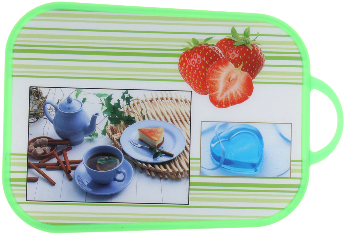 Доска разделочная Доляна Коллаж, цвет: зеленый, 25 х 33 х 0 см948650От качества посуды зависит не только вкус еды, но и здоровье человека. Доска— товар, соответствующий российским стандартам качества. Любой хозяйке будет приятно держать его в руках. С такой посудой и кухонной утварью приготовление еды и сервировка стола превратятся в настоящий праздник.
