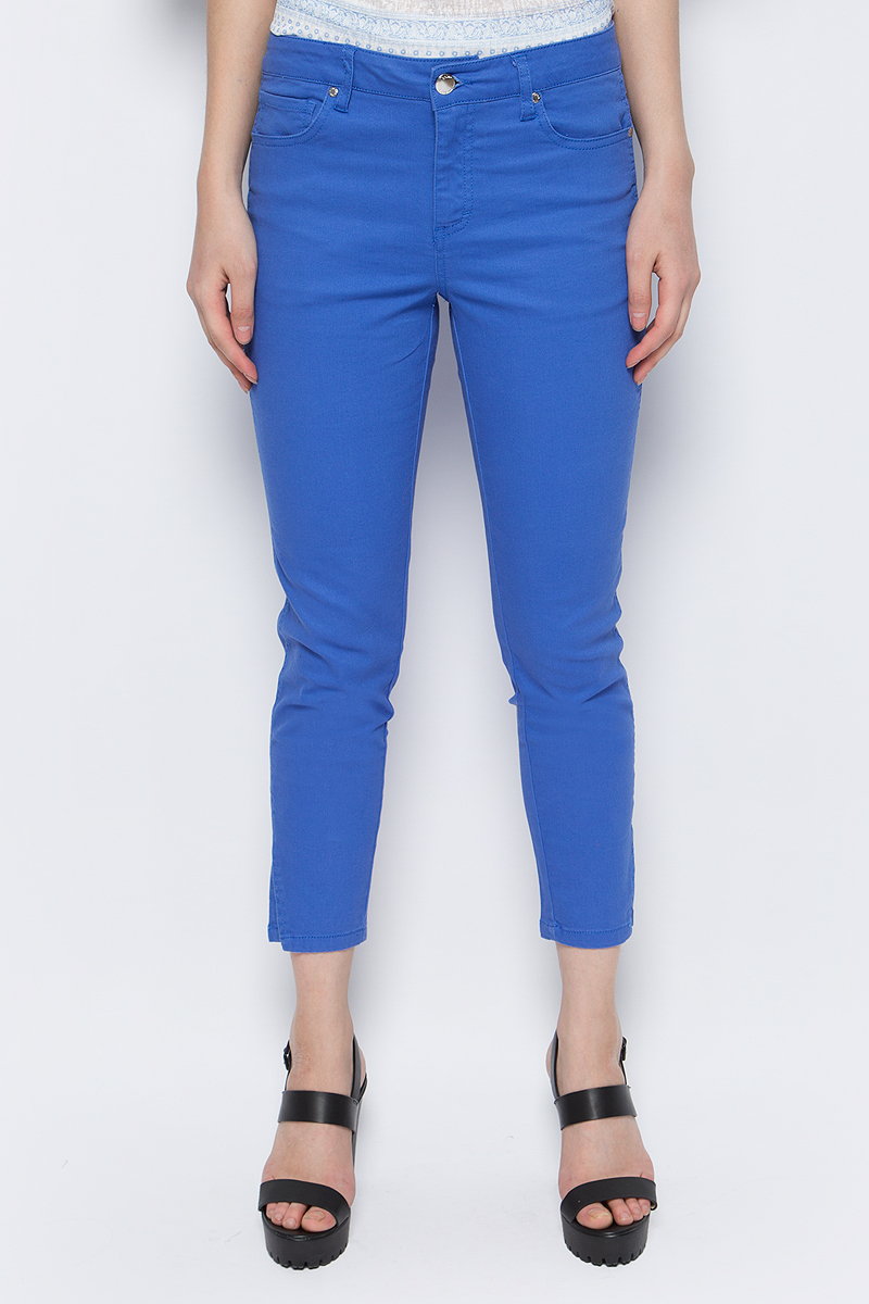 Брюки женские Sela, цвет: синий. P-115/202-8122. Размер 46 брюки женские sela цвет темно синий p 115 201 8122 размер 48