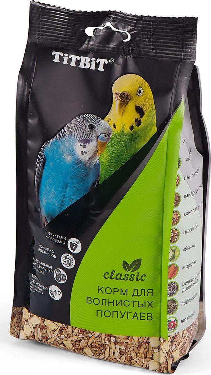 Корм Titbit Classic, для волнистых попугаев, 0,5 кг корм жорка hqf морская капуста для волнистых попугаев 600 гр