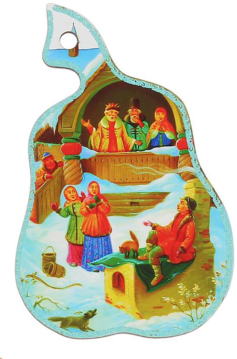 Доска разделочная Груша, цвет: голубой, 28 х 17 х 0,5 см2066302Разделочная доска - один из основных атрибутов кухонной утвари. Доска разделочная Груша выполнена из дерева и украшена ярким рисунком. Легко моется. Не впитывает запахи.Такая доска понравится любой хозяйке и будет отличным помощником на кухне.