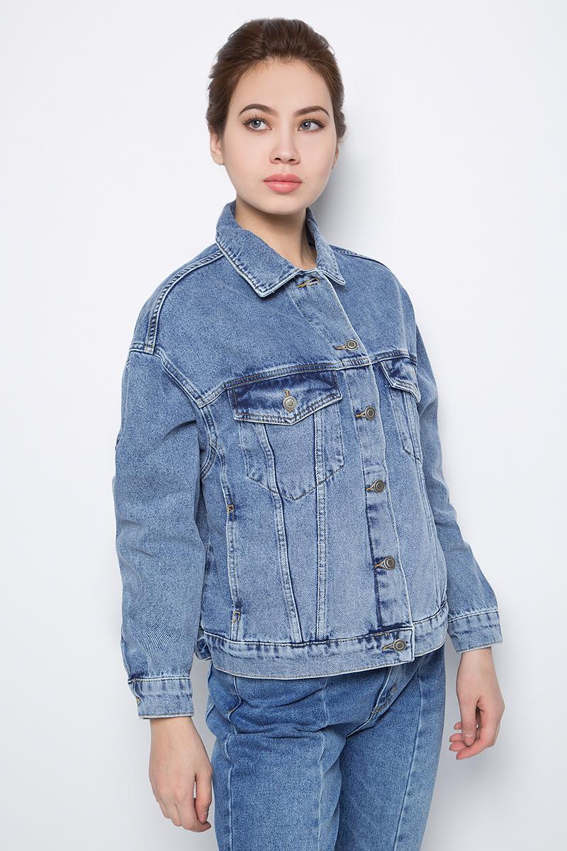 Куртка джинсовая женская adL, цвет: светло-синий. 11934089000_003. Размер XS (/42)