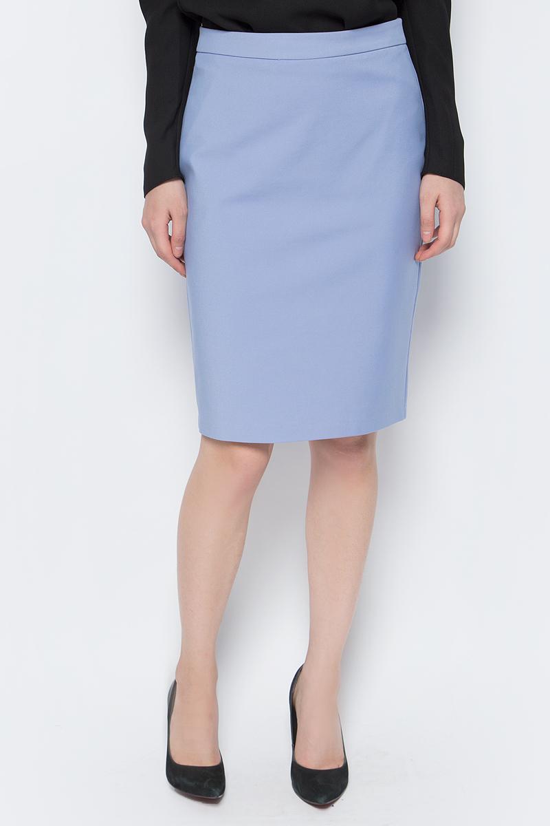 Юбка женская adL, цвет: светло-синий. 12733754000_003. Размер S (42/44)12733754000_003Стильная юбка-карандаш adL, выполненная из комбинированного материала, отлично дополнит ваш классический стиль. Модель сзади дополнена застежкой-молнией.