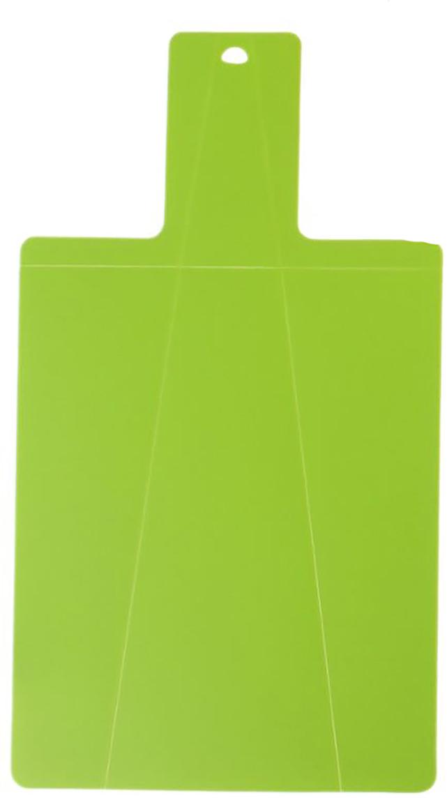 Доска разделочная Доляна, складная, с ручкой, цвет: зеленый, 38 х 21 х 0,2 см309937Пластиковая разделочная доска — настоящая звезда любой кухни! Всё ещё сомневаетесь? Давайте убедимся в её неоспоримых преимуществах!Она не требует предварительной подготовки к использованию.Гигиеничность: доска не впитывает сок от овощей и запахи еды. Простота ухода: легко отмывается в тёплой воде с незначительным использованием чистящего средства. «Щадящая» поверхность: пластик, в отличие от стекла, не тупит ножи. Высокая стойкость к воздействию большинства химических реагентов. Большой выбор различных форм, размеров и цветов. Низкая стоимость. Данную модель отличает интересная особенность — гибкость! Выполненное из качественного полиуретана, изделие может складываться для удобства хранения и переноски уже нарезанного продукта. Она не скользит, что очень удобно для активной работы. Гибкая разделочная доска идеальна для раскатки теста.Важно помнить технику безопасности при использовании пластиковых досок:Всегда используйте несколько досок для разных видов продуктов: для мяса, рыбы, овощей. Сразу после использования сполосните изделие под струёй тёплой воды. Не ставьте на пластиковую поверхность горячую посуду, не используйте её как подставку для кастрюль или сковородок. Рекомендуется менять доску раз в полгода. Создавайте настоящие кулинарные шедевры на своей кухне, а доска разделочная поможет вам в этом!