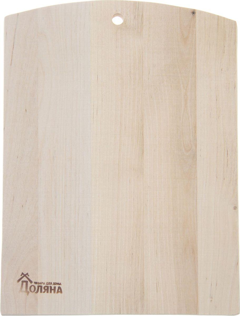 Доска разделочная Доляна Народная, цвет: бежевый, 28 х 22 см1301855Благородный вид и неизменное удобство: доска разделочная поражает своими качествами. Хотите узнать, почему хозяйки во всём мире предпочитают доски из натурального дерева?Материал.Доска из качественного дерева по праву считается самой надёжной: она имеет высокую прочность, устойчива к сильным нагрузкам. Используя её, вы не затупите ножи. Разделочная доска не разбухает в воде, не впитывает влагу, устойчива к запахам.Дизайн.Доска из натурального дерева имеет приятный и естественный цвет. Специальное отверстие в её верхней части позволит подвесить разделочную доску на стену для удобства хранения. Доска из дерева может служить прекрасной подставкой для горячего.Уход.Чтобы ваша доска служила вам верой и правдой долгие годы, советуем следовать простым правилам. Они помогут вам сохранить её внешний вид и все потребительские качества:допускается только ручное мытьё, не кладите доску в посудомоечную машинку;не оставляйте разделочную доску отмокать в воде, мойте её только проточной водой до или после остальной посуды;отмывать доску необходимо под горячей водой, а ополаскивать — в холодной;сушите доску на воздухе, в подвешенном состоянии;для дезинфекции раз в месяц протирайте доску разведённым уксусом или лимонным соком.Если вы будете грамотно заботиться о своих кухонных помощниках, любой процесс приготовления пищи станет лёгким и приятным.
