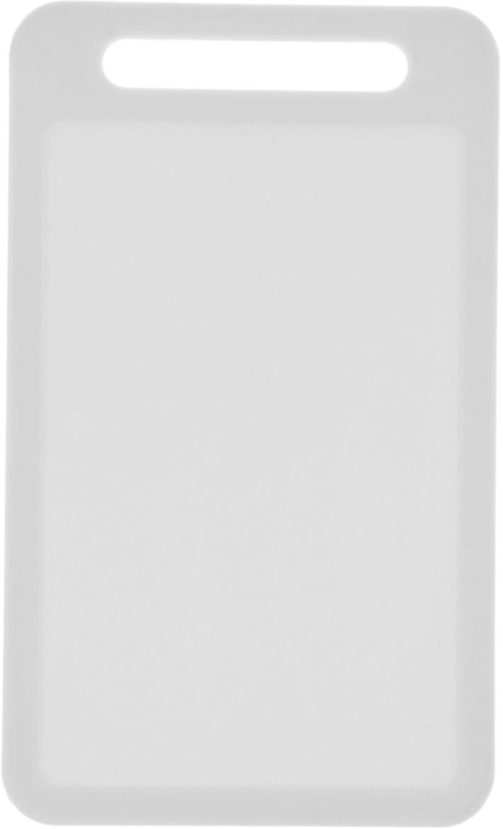 Доска разделочная Доляна, цвет: белый, 22 х 13 х 0,2 см