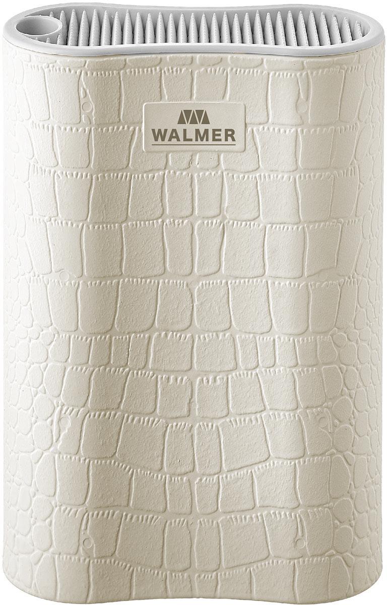 Подставка для ножей Walmer White Leather, цвет: белый, 17 x 7 x 22 см подставка для ножей winner подставка для ножей