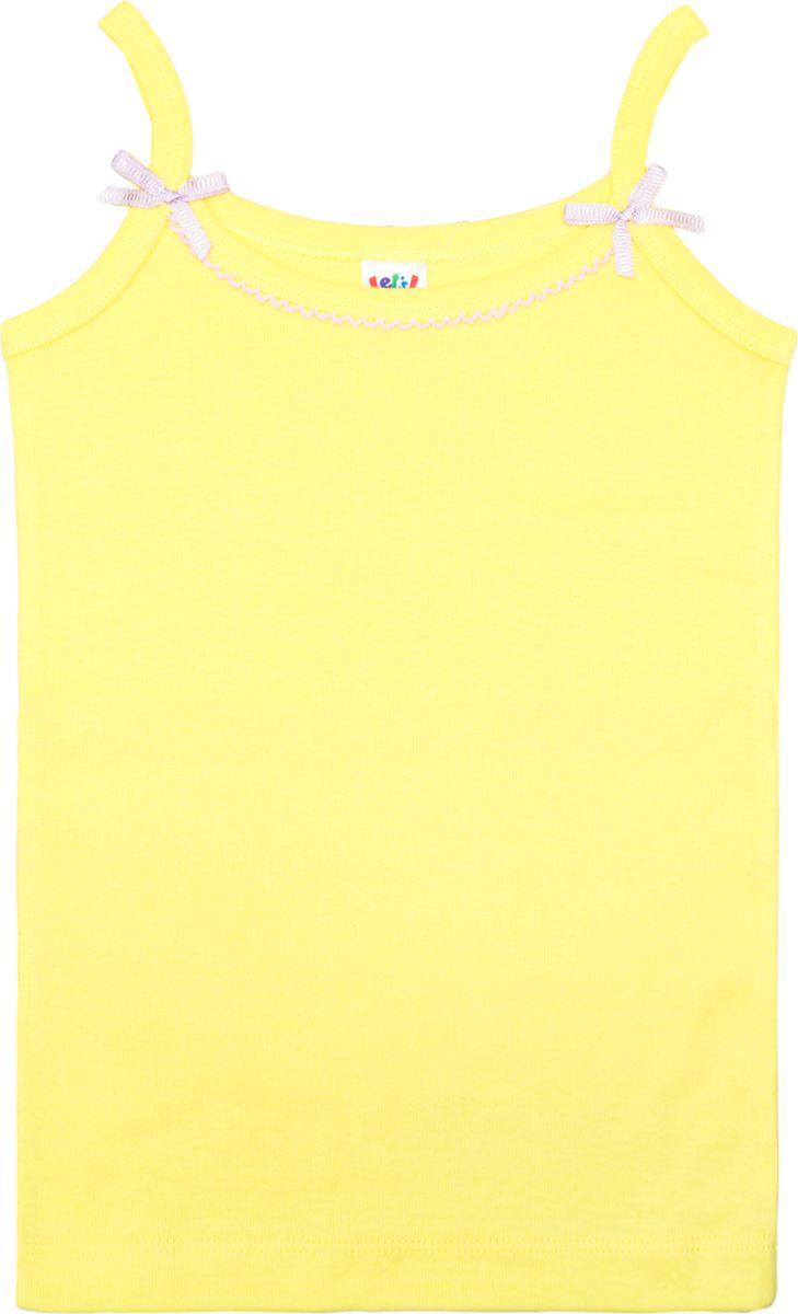 Майка для девочки Let's Go, цвет: светло-желтый. 2149. Размер 98/104 спортивный костюм для девочки let s go цвет фиолетовый 11114 размер 164