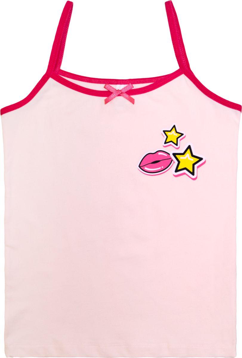 Майка для девочки Let's Go, цвет: светло-розовый, малиновый. 2152. Размер 140 спортивный костюм для девочки let s go цвет фиолетовый 11114 размер 164
