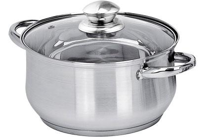 Кастрюля Appetite изготовлена из нержавеющей стали, что обеспечит равномерный нагрев и быстрое приготовление блюда. Посуда имеет классическое исполнение и характеризуется современным привлекательным дизайном.  В комплекте к кастрюле идет стеклянная крышка, что даст возможность наблюдать за процессом готовки. Диаметр дна - 22 см. Объем кастрюли - 4,3 л.
