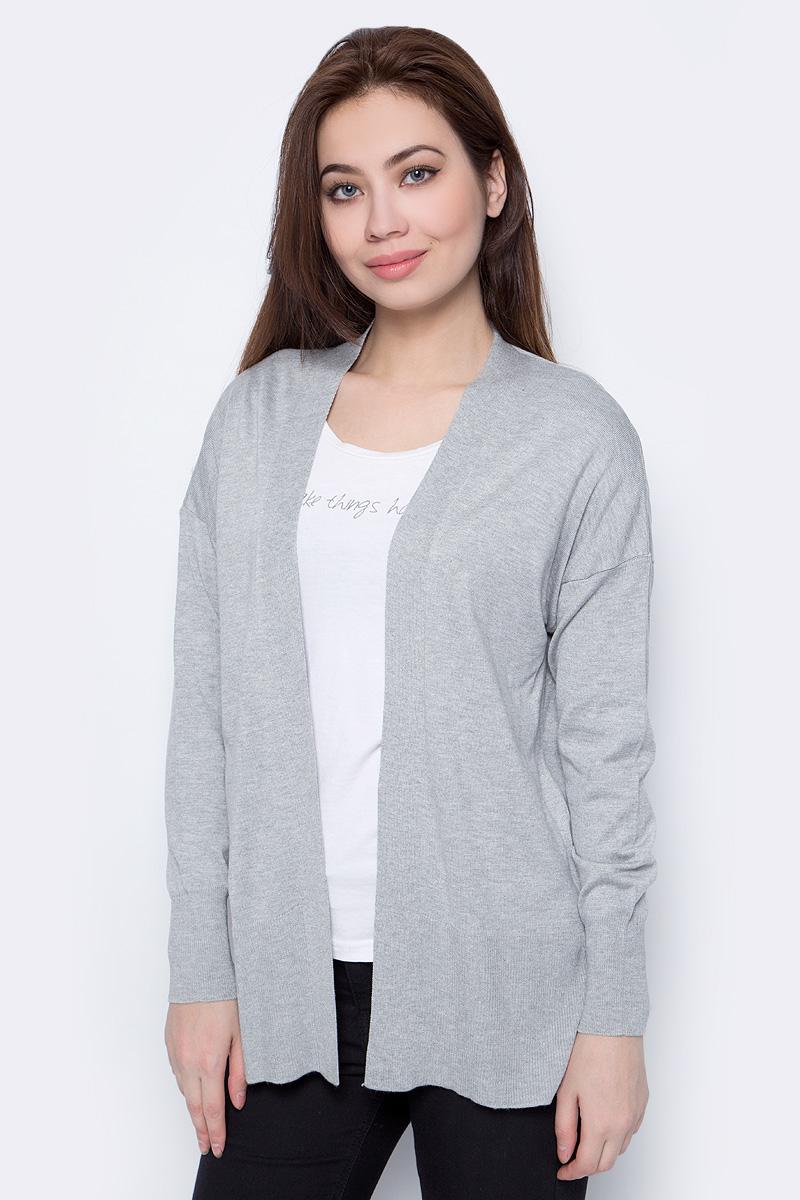 Кардиган женский adL, цвет: серый меланж. 13432011001_200. Размер S (42/44)