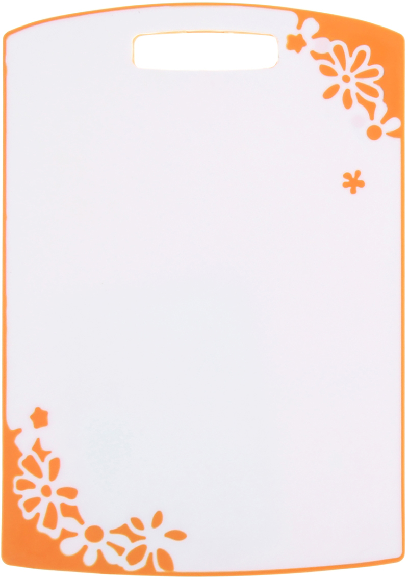 Доска разделочная Доляна, цвет: оранжевый, 24,5 х 35,5 х 0 см943372От качества посуды зависит не только вкус еды, но и здоровье человека. Доска— товар, соответствующий российским стандартам качества. Любой хозяйке будет приятно держать его в руках. С такой посудой и кухонной утварью приготовление еды и сервировка стола превратятся в настоящий праздник.