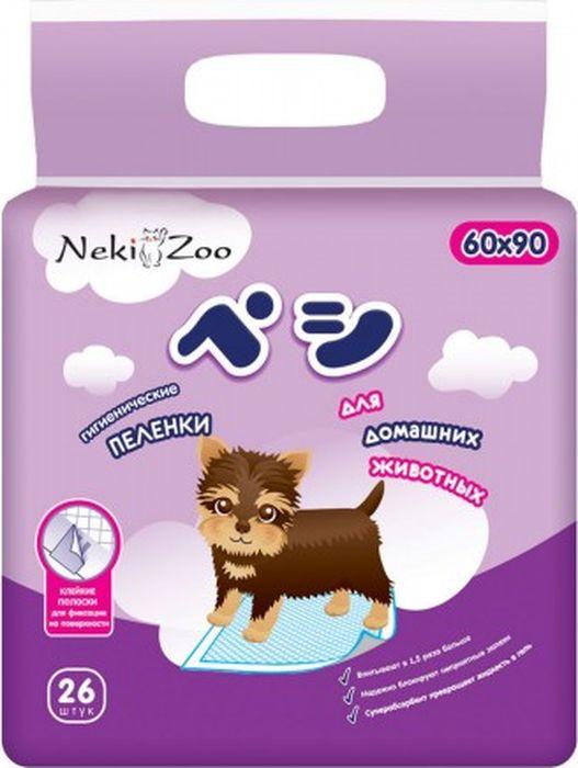 """Пеленки для домашних животных Maneki """"NekiZoo"""", впитывающие, одноразовые, 60 х 90 см, 26 шт"""