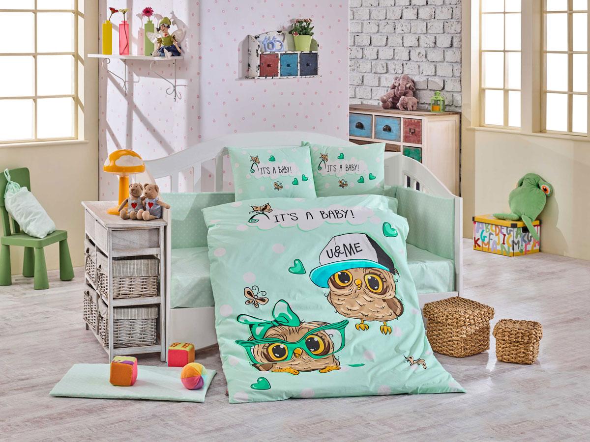 Комплект детского постельного белья Hobby Home Collection Cool Baby, наволочки 40x60, цвет: минт letto комплект детского постельного белья фея цвет розовый