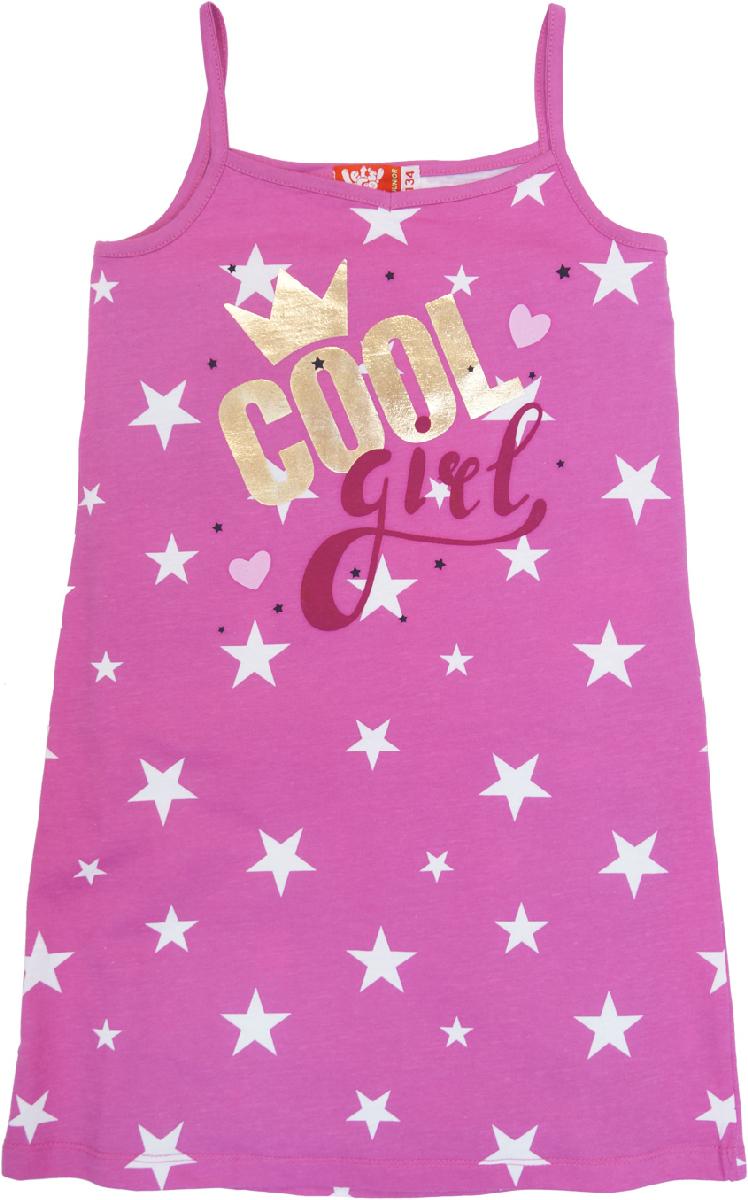 Ночная рубашка для девочки Let's Go, цвет: розовый. 9159. Размер 164 спортивный костюм для девочки let s go цвет фиолетовый 11114 размер 164