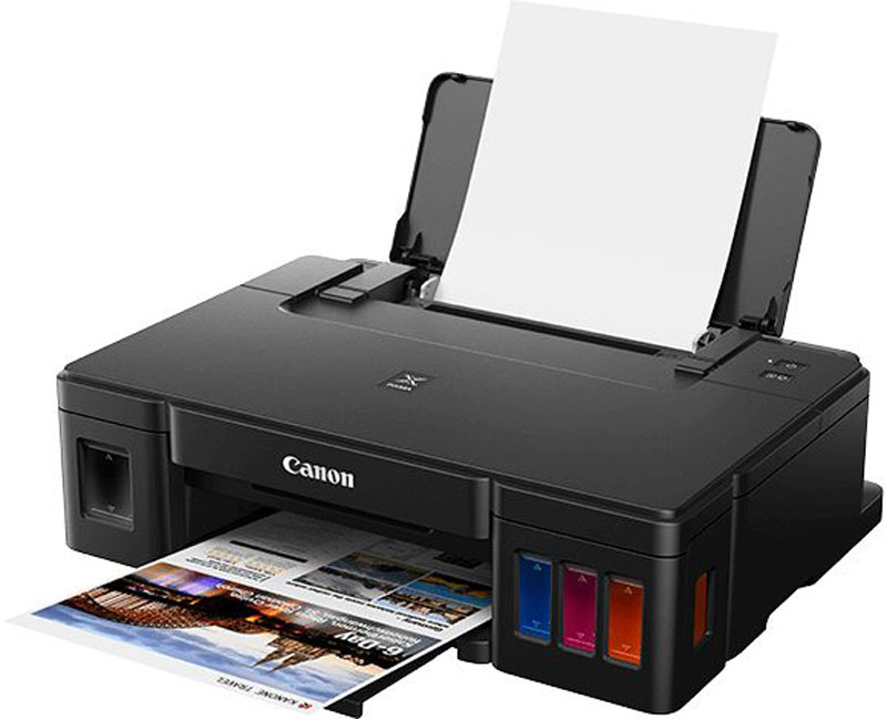 Canon Pixma G1410, Black принтер2314C009Canon Pixma G1410 - компактный принтер без картриджей для ежедневной экономичной печати четких документов и ярких фотографий в домашних условиях.Принтер позволяет выполнять качественную печать документов с четким текстом и ярких фотографий без полей формата до A4, обеспечивая надежность, низкую стоимость печатной страницы и поддержку USB для больших объемов печати.Экономичная и производительная печать благодаря увеличенному ресурсу — до 6000 страниц с контейнером для черных чернил или 7000 страниц с одним комплектом контейнеров для цветных чернил.Печатайте высококачественные материалы с помощью технологии Canon FINE и гибридной системы чернил: черные пигментные чернила обеспечат четкую печать документов, а цветные водорастворимые помогут напечатать яркие фотографии без полей формата до A4.Этот компактный принтер подойдет для любого дома или офиса и легко справится с большими объемами печати благодаря сверхнадежной системе чернил FINE и устройству подачи бумаги на 100 листов, расположенному сзади.Легко редактируйте и печатайте фотографии с помощью программы My Image Garden, располагающей функцией распознавания лиц, которая позволит вам быстро находить необходимые изображения на компьютере.Настройка принтера стала проще благодаря возможностям подключения к ПК через USB. Функция автоотключения, которая отключает принтер, если он не используется, позволит сократить расходы на электроэнергию.