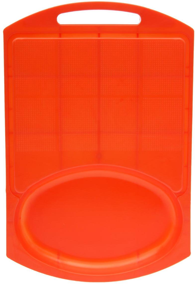 Доска разделочная Комфорт Плюс, с лотком, цвет: оранжевый, 40 х 27 х 3 см2506246От качества посуды зависит не только вкус еды, но и здоровье человека. Доска— товар, соответствующий российским стандартам качества. Любой хозяйке будет приятно держать его в руках. С такой посудой и кухонной утварью приготовление еды и сервировка стола превратятся в настоящий праздник.
