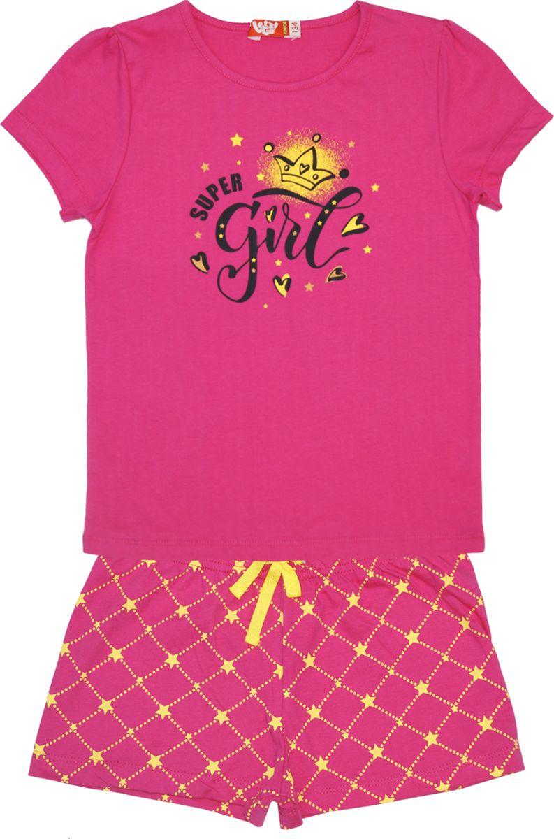 Пижама для девочки Let's Go, цвет: фуксия. 9157. Размер 110 спортивный костюм для девочки let s go цвет фиолетовый 11114 размер 164