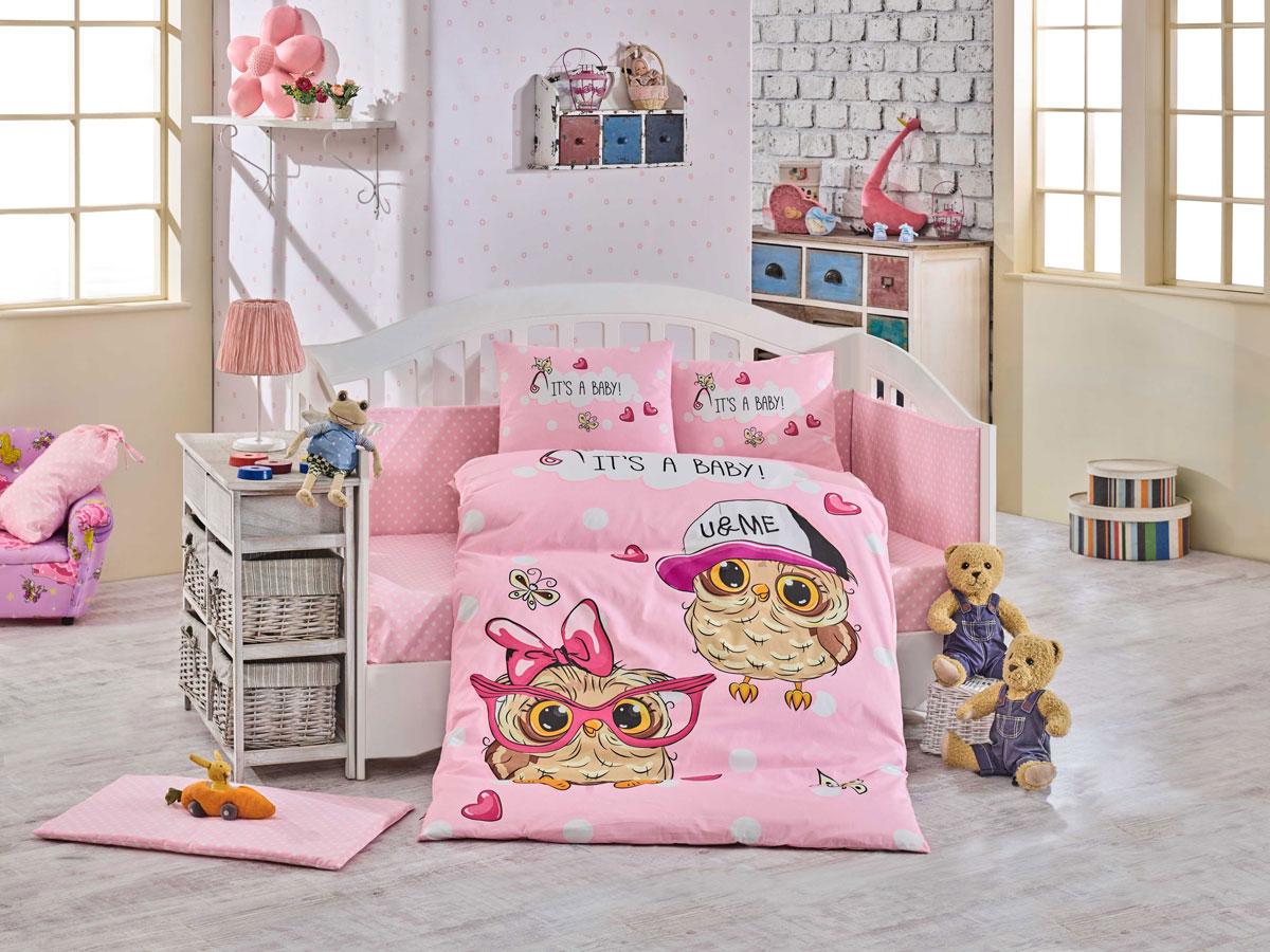 Комплект детского постельного белья Hobby Home Collection Cool Baby, наволочки 40x60, цвет: розовый комплект постельного белья michelle home textiles kdbb