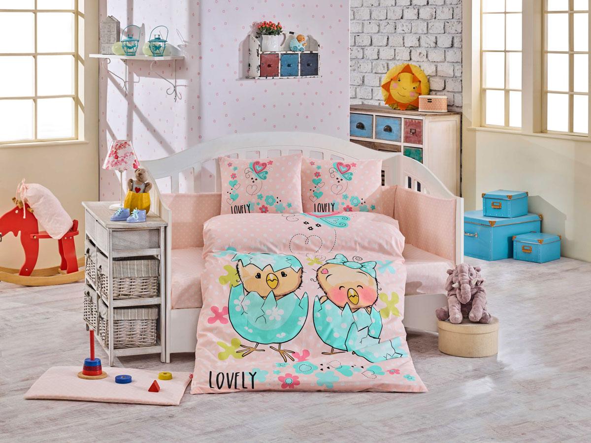 Комплект детского постельного белья Hobby Home Collection Lovely, наволочки 40x60, цвет: персиковый комплект постельного белья michelle home textiles kdbb