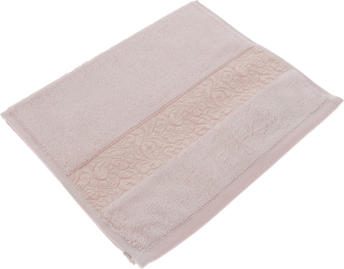 Полотенце Issimo Home Valencia, цвет: пудровый, 30 x 50 см00000005601Полотенца из бамбука только издали похожи на обычные. На самом деле, при первом же прикосновении Вы ощутите насколько эти полотенца мягкие и нежные! Таким полотенцем не нужно вытираться - только коснитесь кожи - и ткань сама все впитает! Такая ткань впитывает в 3 раза лучше, чем хлопок! Набор из маленьких полотенец-салфеток очень практичен – он станет незаменимым в дороге и в путешествиях. Кроме того, это хороший, красивый и изысканный сувенир для всех, кому хочется подарить подарок. Лицевые и банные полотенца выполнены в наиболее оптимальных размерах и плотности – несмотря на богатую плотность и высокую петлю полотенец, они быстро сохнут, остаются легкими даже при намокании. Коллекция бамбуковых полотенец имеет красивый жаккардовый бордюр, выполненный с орнаментом в цвет полотенец.