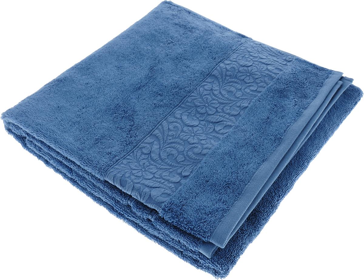 Полотенце Issimo Home Valencia, цвет: индиго, 70 x 140 см00000005571Полотенца из бамбука только издали похожи на обычные. На самом деле, при первом же прикосновении Вы ощутите насколько эти полотенца мягкие и нежные! Таким полотенцем не нужно вытираться - только коснитесь кожи - и ткань сама все впитает! Такая ткань впитывает в 3 раза лучше, чем хлопок! Набор из маленьких полотенец-салфеток очень практичен – он станет незаменимым в дороге и в путешествиях. Кроме того, это хороший, красивый и изысканный сувенир для всех, кому хочется подарить подарок. Лицевые и банные полотенца выполнены в наиболее оптимальных размерах и плотности – несмотря на богатую плотность и высокую петлю полотенец, они быстро сохнут, остаются легкими даже при намокании. Коллекция бамбуковых полотенец имеет красивый жаккардовый бордюр, выполненный с орнаментом в цвет полотенец.