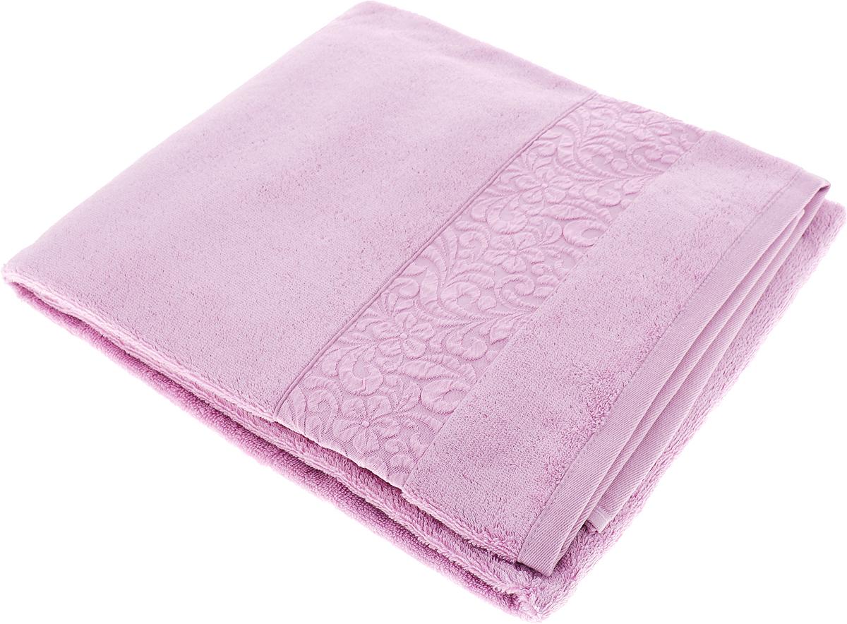 Полотенце Issimo Home Valencia, цвет: светло-пурпурный, 90 x 150 см00000005596Полотенца из бамбука только издали похожи на обычные. На самом деле, при первом же прикосновении Вы ощутите насколько эти полотенца мягкие и нежные! Таким полотенцем не нужно вытираться - только коснитесь кожи - и ткань сама все впитает! Такая ткань впитывает в 3 раза лучше, чем хлопок! Набор из маленьких полотенец-салфеток очень практичен – он станет незаменимым в дороге и в путешествиях. Кроме того, это хороший, красивый и изысканный сувенир для всех, кому хочется подарить подарок. Лицевые и банные полотенца выполнены в наиболее оптимальных размерах и плотности – несмотря на богатую плотность и высокую петлю полотенец, они быстро сохнут, остаются легкими даже при намокании. Коллекция бамбуковых полотенец имеет красивый жаккардовый бордюр, выполненный с орнаментом в цвет полотенец.