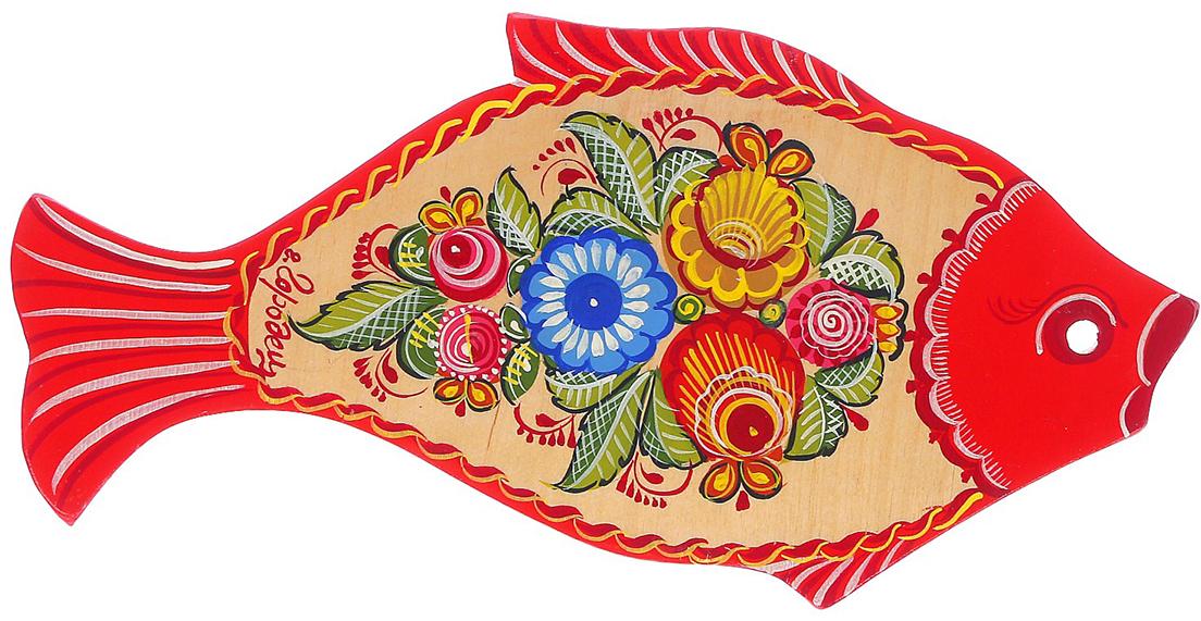 Доска разделочная Рыба. Цветок, цвет: синий, 33 х 17 х 0,7 см2964858От качества посуды зависит не только вкус еды, но и здоровье человека. Доска— товар, соответствующий российским стандартам качества. Любой хозяйке будет приятно держать его в руках. С такой посудой и кухонной утварью приготовление еды и сервировка стола превратятся в настоящий праздник.