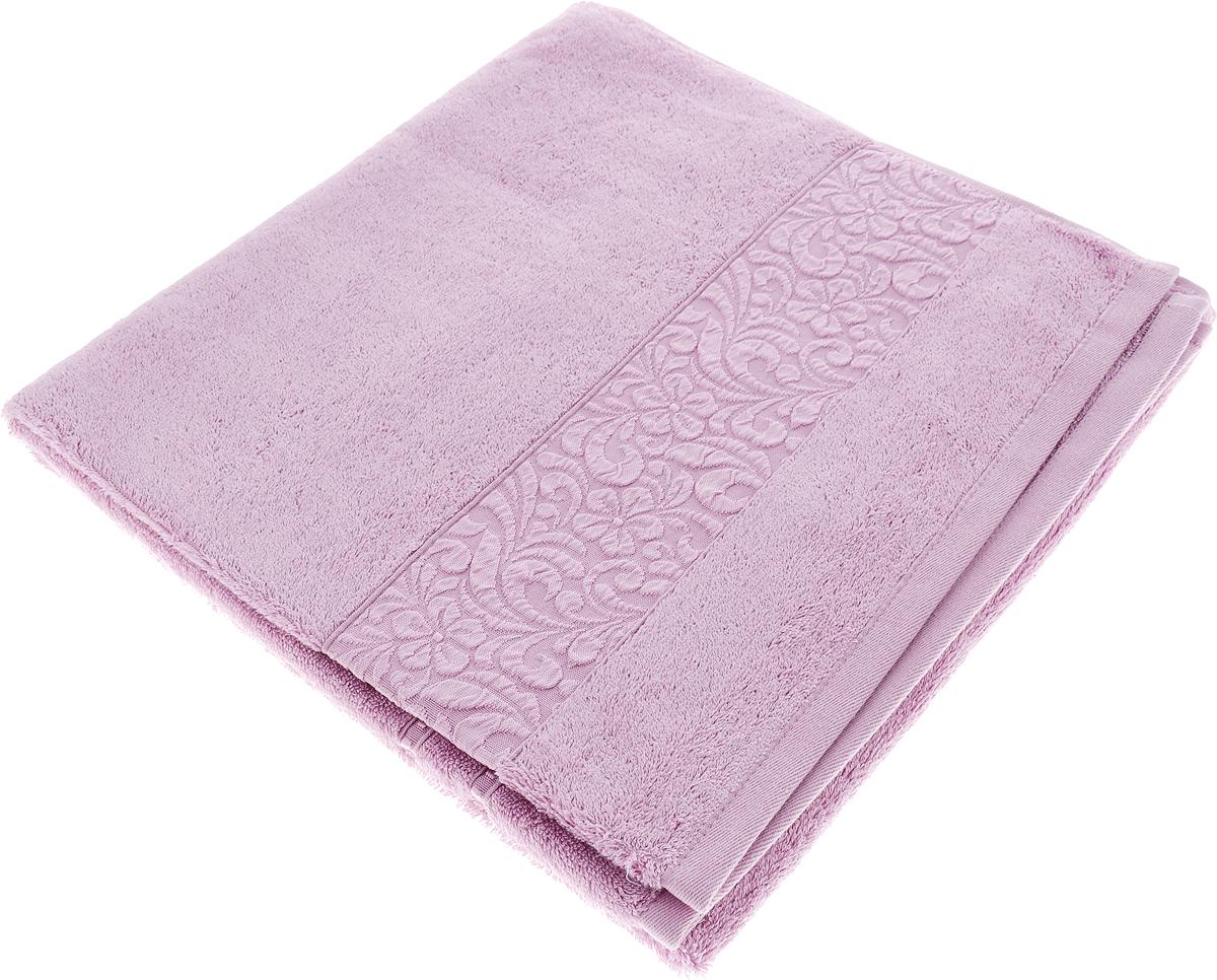 Полотенце Issimo Home Valencia, цвет: светло-пурпурный, 70 x 140 см00000005595Полотенца из бамбука только издали похожи на обычные. На самом деле, при первом же прикосновении Вы ощутите насколько эти полотенца мягкие и нежные! Таким полотенцем не нужно вытираться - только коснитесь кожи - и ткань сама все впитает! Такая ткань впитывает в 3 раза лучше, чем хлопок! Набор из маленьких полотенец-салфеток очень практичен – он станет незаменимым в дороге и в путешествиях. Кроме того, это хороший, красивый и изысканный сувенир для всех, кому хочется подарить подарок. Лицевые и банные полотенца выполнены в наиболее оптимальных размерах и плотности – несмотря на богатую плотность и высокую петлю полотенец, они быстро сохнут, остаются легкими даже при намокании. Коллекция бамбуковых полотенец имеет красивый жаккардовый бордюр, выполненный с орнаментом в цвет полотенец.