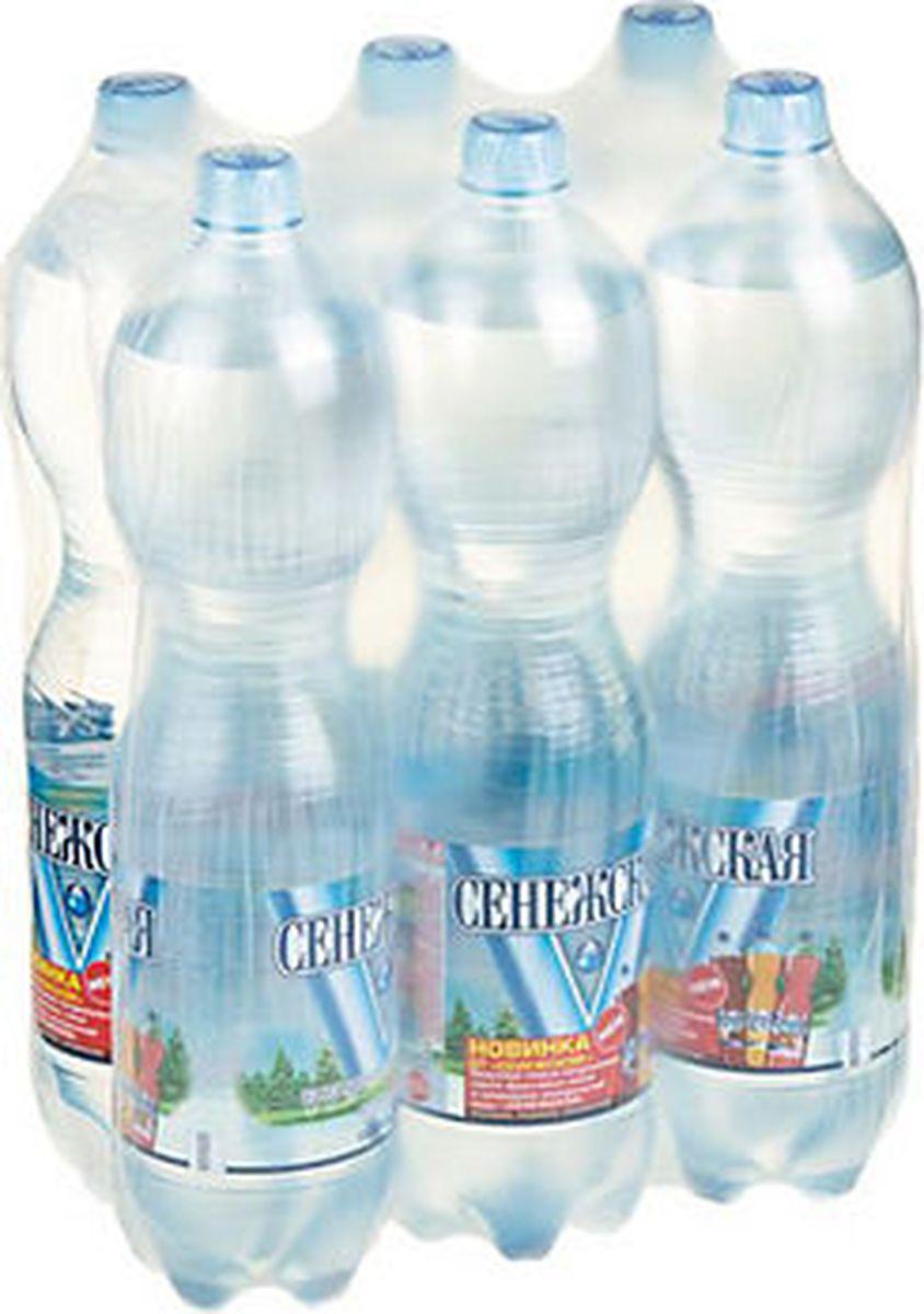 Сенежская Вода газированная, 6 шт по 1,5 л сенежская вода малютка 5 л