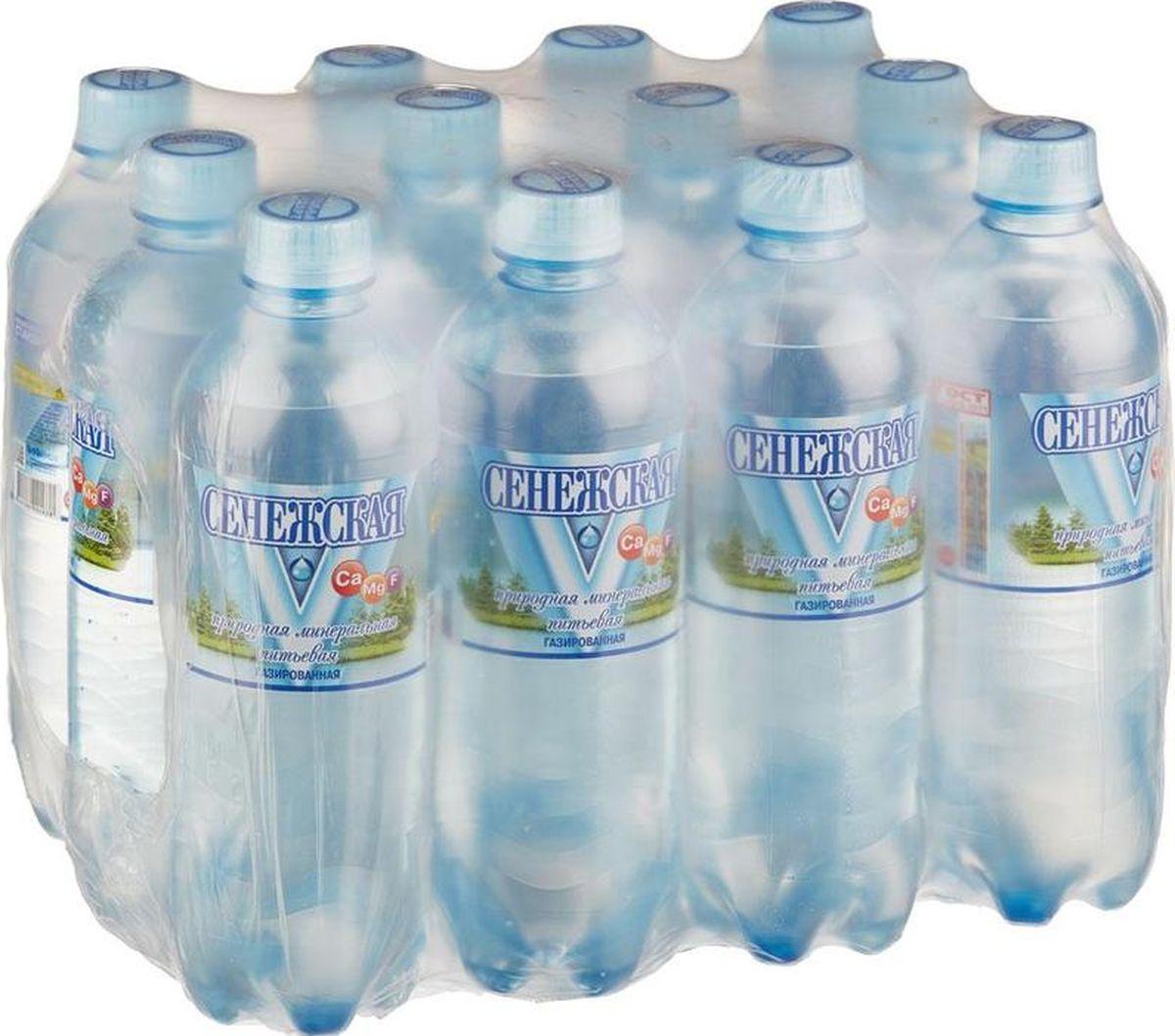 Сенежская Вода газированная, 12 шт по 0,5 л сенежская вода малютка 5 л