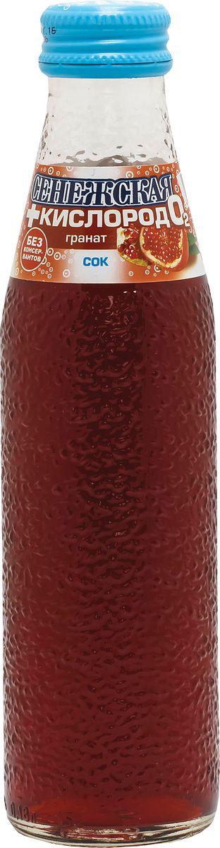 Сенежская + кислород Напиток гранат, 4 шт по 0,18 л uludag frutti extra лайм напиток слабогазированный 0 25 л