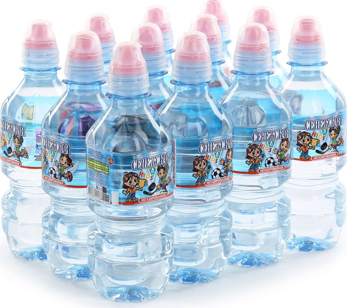 Сенежская KIDS Вода негазированная, 12 шт по 0,35 л вода сенежская без газа 1 5 л 6шт