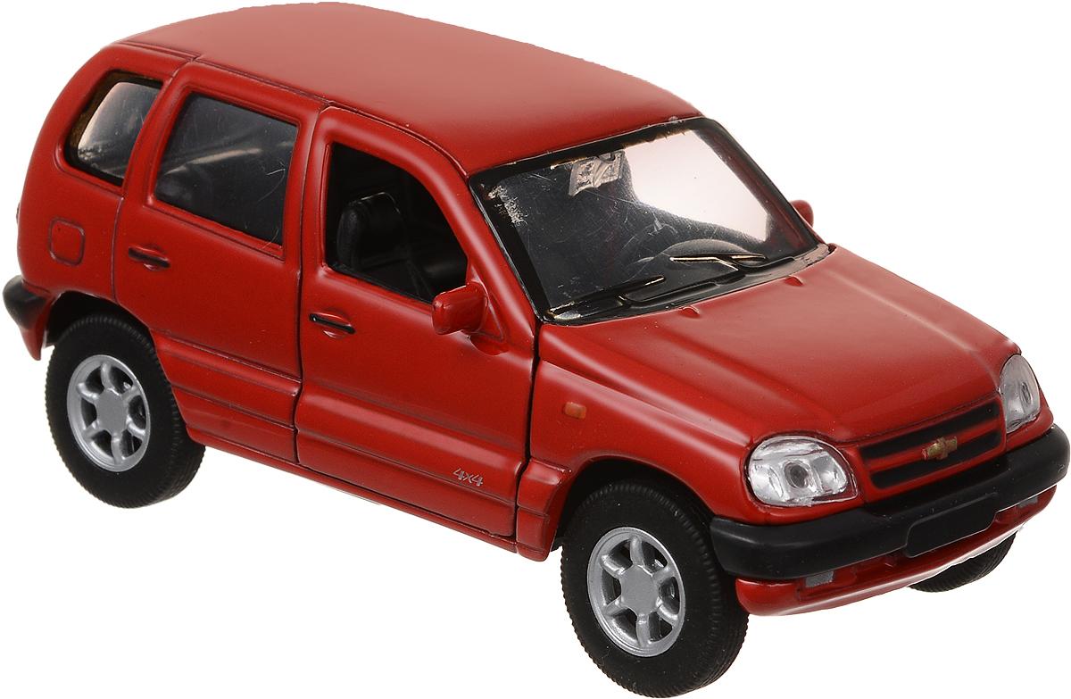 Welly Модель автомобиля Chevrolet Niva цвет красный welly 335