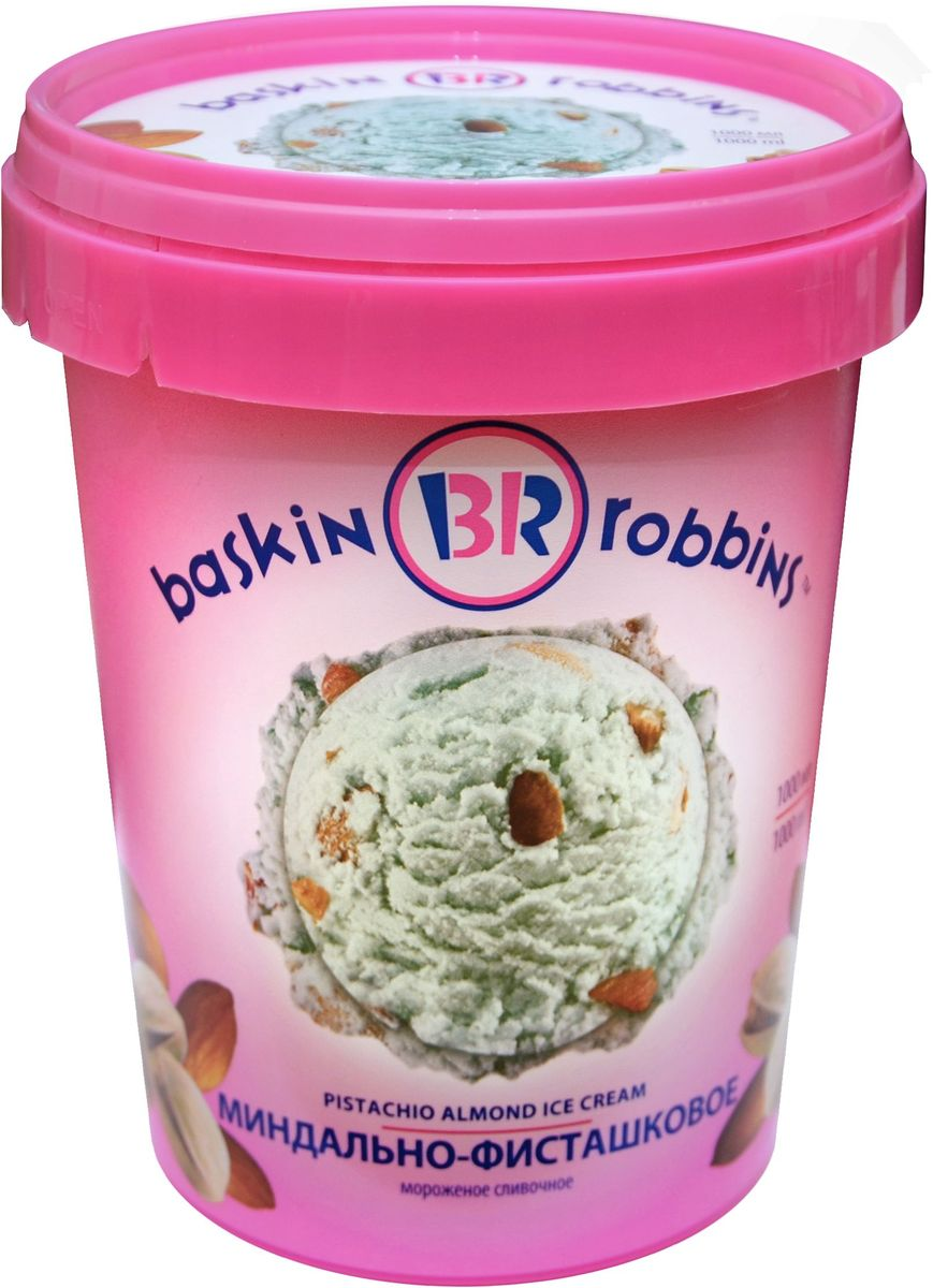 Baskin Robbins Мороженое Миндально-фисташковое, 1 л es robbins everlife hard floor rectangle vinyl chair mat 46 by 60 inch clear