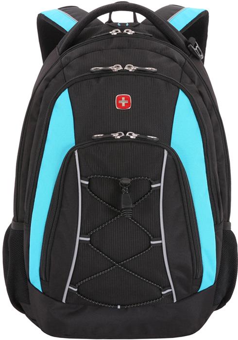 """Рюкзак """"Wenger"""", цвет: черный, синий, 28 л"""