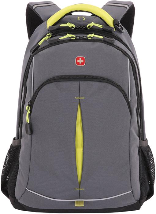 Рюкзак Wenger, цвет: серый, лаймовый, 22 л3165426408-2Если Ваш ребенок вынужден носить в школу много книг и учебников, то школьный рюкзак Wenger - это отличная находка!Рюкзак имеет светоотражающие элементы, которые сделают Вашего ребенка заметным на дороге в темное время суток. Безопасность нахождения обладателя данной модели рюкзака у границы проезжей части теперь находится на совершенно ином, более качественном уровне.Вместимость рюкзака - 22 литра. Эта модель выполнена из прочного полиэстера, препятствующего проникновению влаги. С таким рюкзаком Вы можете не беспокоиться за состояние учебников Вашего ребенка при попадании воды. Также эта модель оснащена системой поддержки спины Comfort Fit, благодаря которой осанка Вашего ребенка будет формироваться правильно. Особенно это необходимо подросткам, чья опорно-двигательная система находится в постоянном развитии и формировании.Два боковых кармана из эластичной сетки предназначены для хранения бутылок воды. Карман-органайзер и кольцо для ключей помогут Вам упорядоченно разложить большое количество мелких предметов. Рюкзак имеет эргономичную ручку для более комфортного использования. Оригинальный дизайн и неповторимый стиль модели подчеркивают серый и лаймовый цвета.- Материал изготовления: полиэстер 600D; - Цвет: серый, лаймовый; - Отверстие для наушников; - Отделение c флисом для хранения очков; - Отделение с карманом-органайзером для мелких предметов, кольцом для ключей; - Внешний карман на молнии; - 2 кармана для бутылок из эластичной сетки; - Система поддержки спины Comfort Fit; - Эргономичная ручка; - Размер: 32 х 15 х 46 см; - Объем: 22 л.
