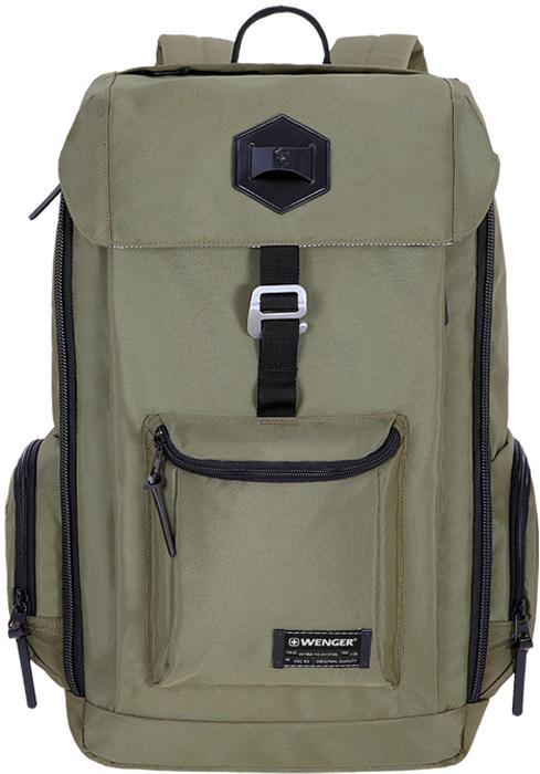 Рюкзак Wenger, цвет: оливковый, черный, 22 л oiwas ноутбук рюкзак мода случайные