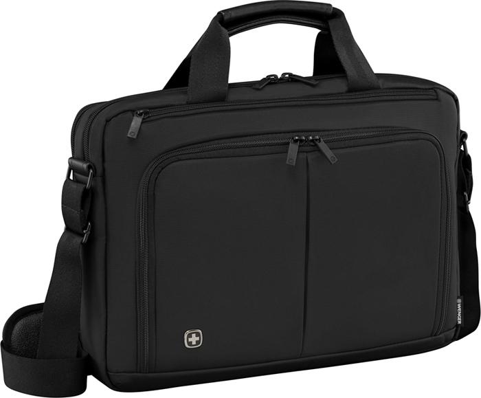 """Портфель для ноутбука """"Wenger"""", цвет: черный, 14''"""