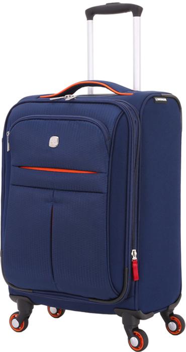 Чемодан Wenger Arosa, цвет: синий, 30 лWG6593307154Чемодан Wenger Arosa представлен в классических синем цвете с яркими вставками.Чемодан изготовлен из прочного полиэстера, отличается эргономичностью, стильным дизайном и высоким качеством, прекрасно подойдет для деловых и туристических поездок.Корпус чемодана выполнен из прочного полиэстера и отличается небольшим весом. Прочная конструкция, высокая манёвренность. Корпус выполнен из высокопрочного полиэстера. 4 колеса, вращающиеся на 360 градусов, обеспечивают свободное движение во всех направлениях. Прочная ручка для переноски. Усиленная ручка, размещённые в верхней части чемодана, облегчает его поднятие и перемещение. Телескопическая ручка с фиксатором. Выдвижная алюминиевая ручка фиксируется одним нажатием кнопки. Дополнительные характеристики:Внутренний сетчатый карман на молнии. Регулируемые ремни для фиксации багажа. Боковые ручки для переноски. Встроенная карточка с данными владельца. Размеры чемодана с учетом колес и сложенной телескопической ручки 35 х 21 х 58 см.
