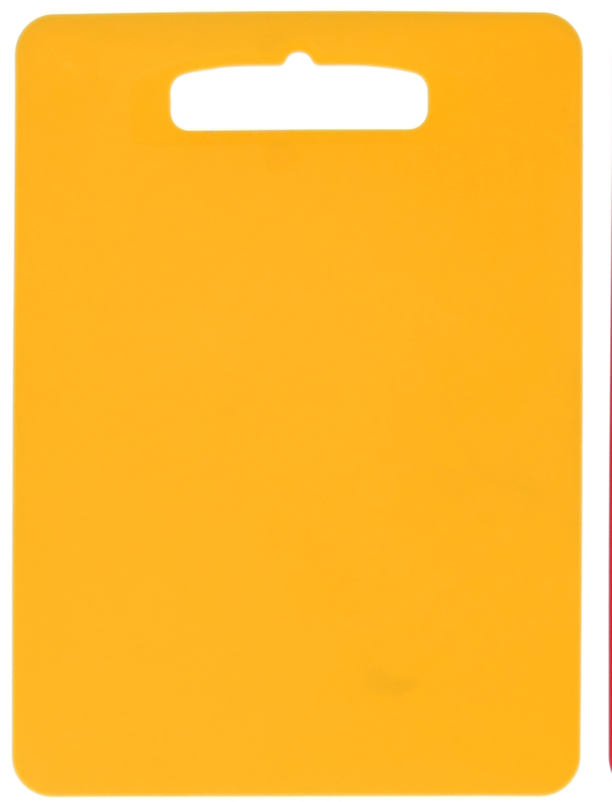 Доска разделочная Полимербыт Комфорт, цвет: желтый, 29 х 21 х 0,1 см1202116От качества посуды зависит не только вкус еды, но и здоровье человека. Доска— товар, соответствующий российским стандартам качества. Любой хозяйке будет приятно держать его в руках. С такой посудой и кухонной утварью приготовление еды и сервировка стола превратятся в настоящий праздник.