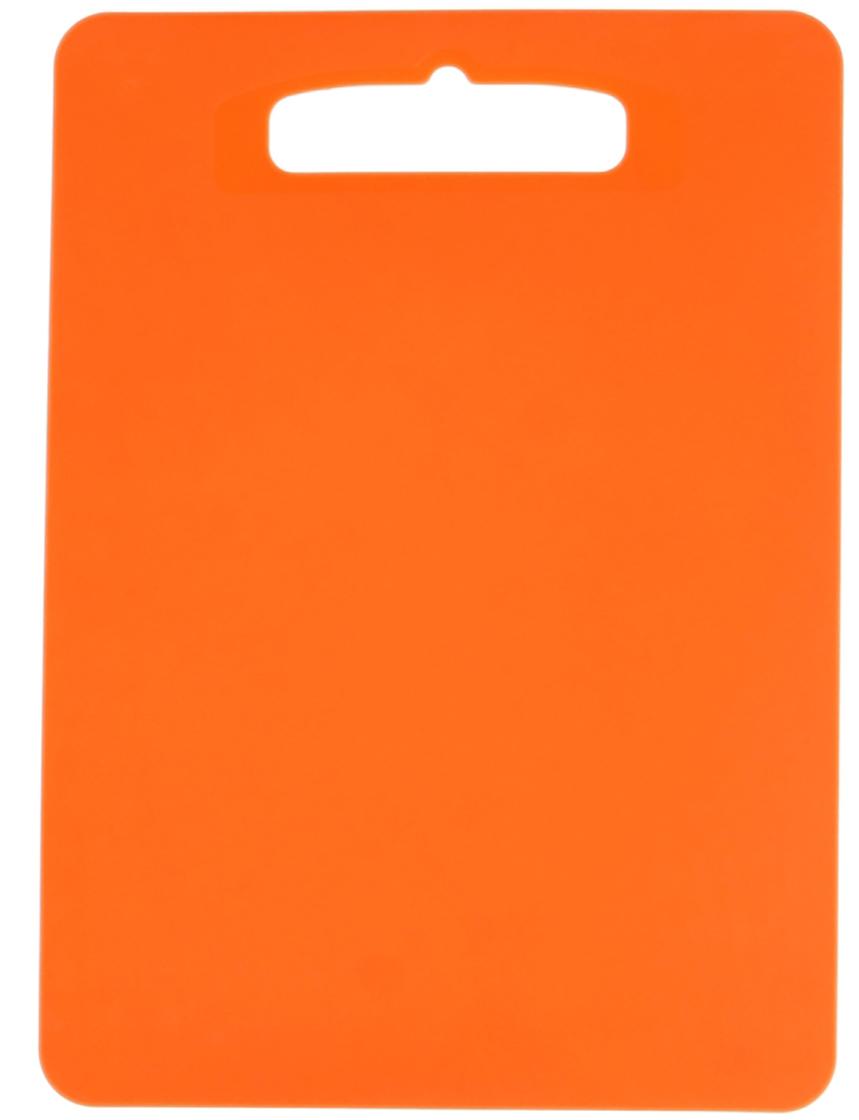 Доска разделочная Полимербыт Комфорт, цвет: оранжевый, 29 х 21 х 0,1 см1202116От качества посуды зависит не только вкус еды, но и здоровье человека. Доска— товар, соответствующий российским стандартам качества. Любой хозяйке будет приятно держать его в руках. С такой посудой и кухонной утварью приготовление еды и сервировка стола превратятся в настоящий праздник.