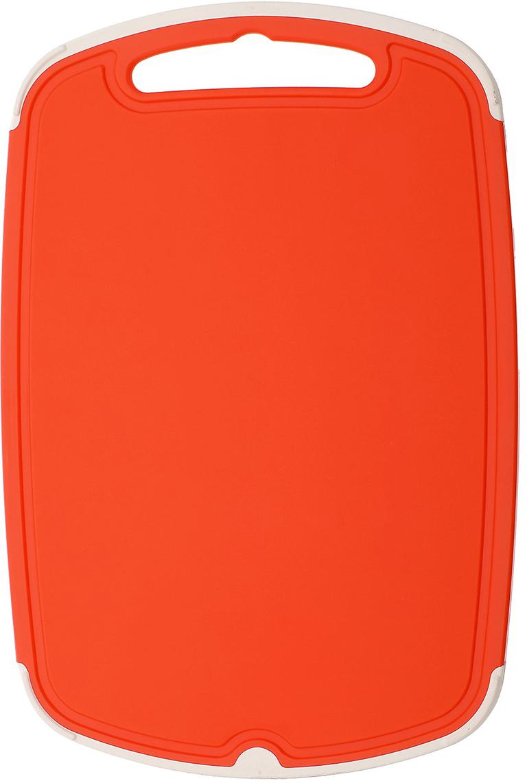 Доска разделочная Полимербыт Премиум, цвет: оранжевый, 29 х 19 х 1 см4380200Разделочная доска - один из основных атрибутов кухонной утвари. Доска разделочная Премиум выполнена из пластика. Легко моется. Не впитывает запахи. Специальное отверстие в верхней части доски позволит подвесить ее на стену для удобства хранения. Такая доска понравится любой хозяйке и будет отличным помощником на кухне.