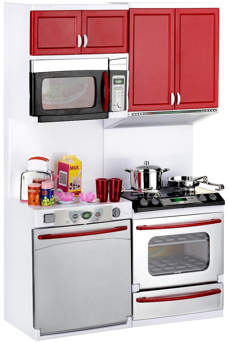 DollyToy Мебель для кукол Стильная кухня плита со стиральной машиной мебель