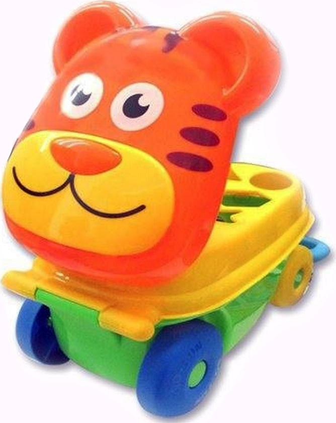 Каталка-сортер Умные игрушки Тигренок каталки игрушки mertens каталка обезьянка