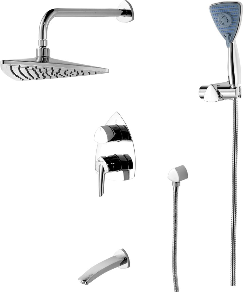 Смеситель Lemark Mars, для ванны и душа, встраиваемый. LM3522CLM3522CСерия смесителей MARS - это воплощение красоты и эргономики в оригинальном дизайне.Комплектация:Встраиваемый наполнитель для ванны с аэраторомЭко-картридж 35 ммТрехпозиционный картриджный переключательВерхняя поворотная душевая лейка «Тропический дождь» 276х276х301 мм3-функциональная лейка 91х106 ммНастенное поворотное крепление для лейкиДушевой шланг 2 мПодключение для душевого шлангаМеталлическая рукоятка